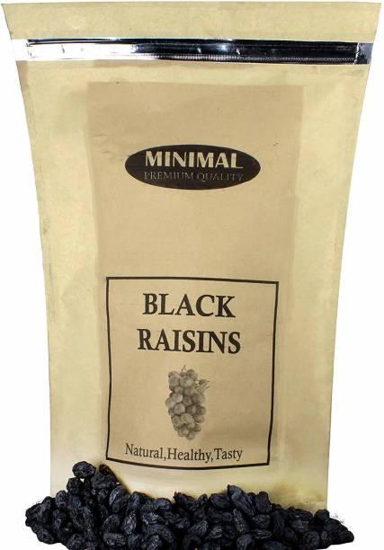 Minimal Dried Black Raisins/Black Kishmish with Seed,250 g Raisins