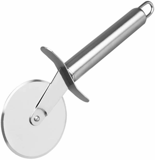 Honestystore Stainless Steel Pipe Handle Pizza Cutter Sharp Blade Wheel Nonstick Pastry Slicer with Sturdy Rolling Pizza Cutter