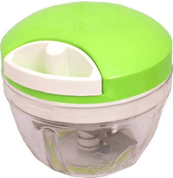 STEPHY Well Grip Handy Chopper Green Color With Stainless Steel Blade Chopper And Cutter & Slicer for Kitchen Vegetable & Fruit Chopper