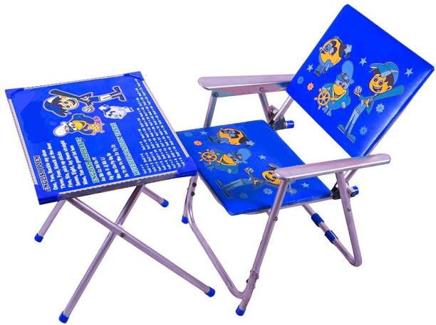 Avani MetroBuzz Kids Table and Chair Set Blue Solid wood Desk Chair