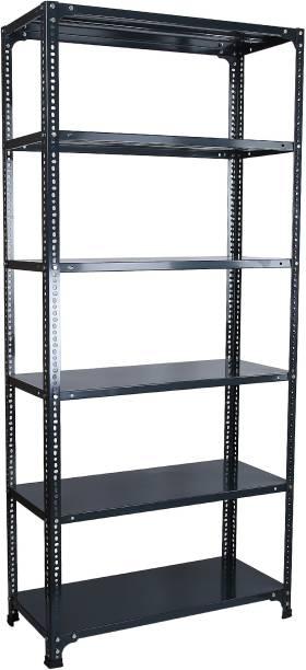 Mil-Nil Prime CRC Sheet 6 Shelf Multipurpose Space Saving Storage Rack, 78 x 36 x 15 Inch, 22 Gauge (Grey) Luggage Rack