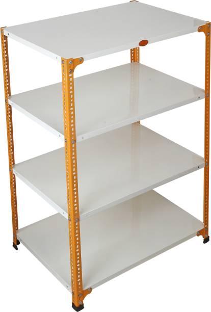 Mil-Nil 48 x 36 x 24 Inch, 22 Gauge (Ivory-Orange) MilNil436242I Luggage Rack