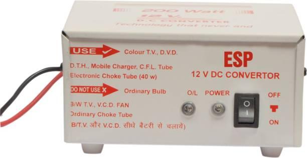 ESP 12V DC Power To 220V AC Converter upto 200 Watt Output, 12 V DC Worldwide Adaptor