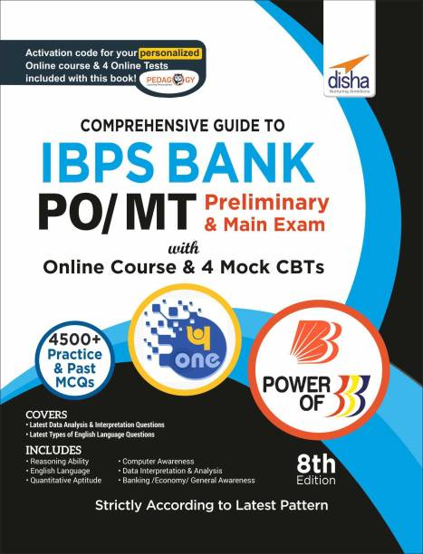 Comprehensive Guide to Ibps Bank Po/ Mt Preliminary & Main Exam with Online Course & 4 Online Cbts