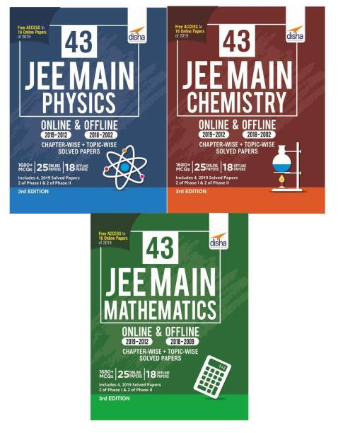 43 JEE Main ONLINE & OFFLINE Physics, Chemistry & Mathematics Topic-wise Solved Papers 3rd Edition