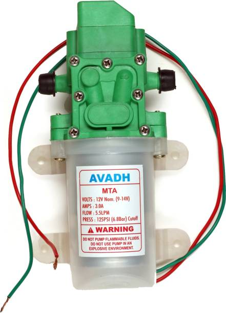 Avadh 5.5 LPM / 12v DC Double-core Self Priming Double Head Battery Sprayer Pump Double Motor for Home, Agricultural, Garden Sprinklers, Fish Tank, Car Washer, AC Service, Shower, Water Taps, Boats, Caravan Pressure Washer