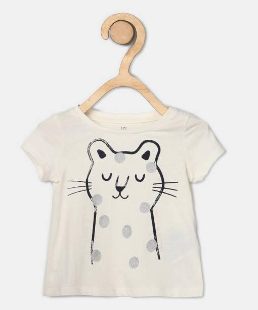 GAP Girls Printed Cotton Blend T Shirt