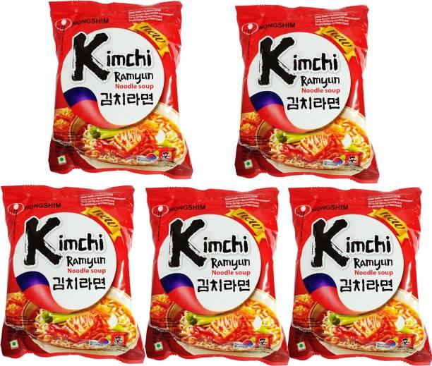 Nongshim Kimchi ramyun masala noodles _5 Instant Noodles Vegetarian