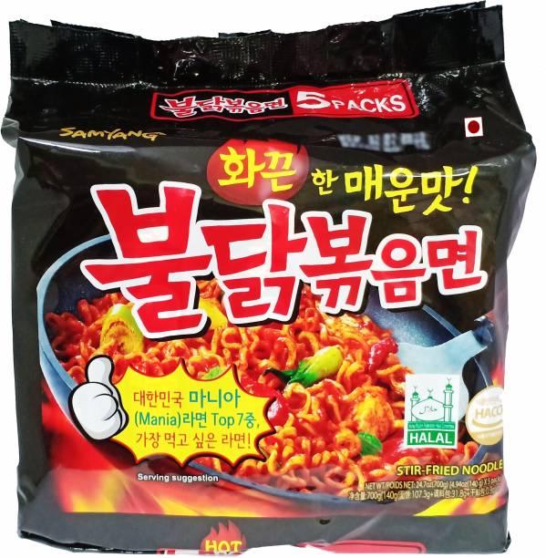 Samyang Stir Fried masala noodles _5 Instant Noodles Non-vegetarian