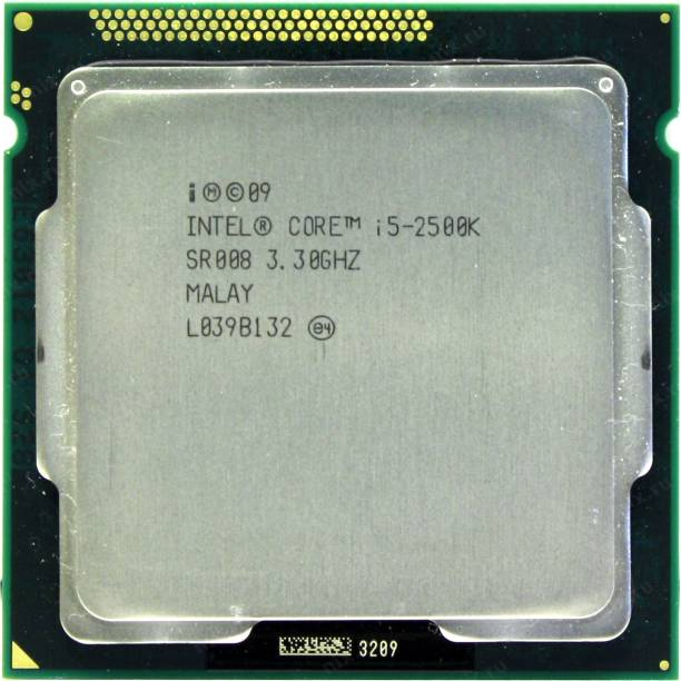 Intel Core i5-2500K 3.3 GHz Upto 3.7 GHz LGA 1155 Socket 4 Cores 4 Threads 6 MB Smart Cache Desktop Processor