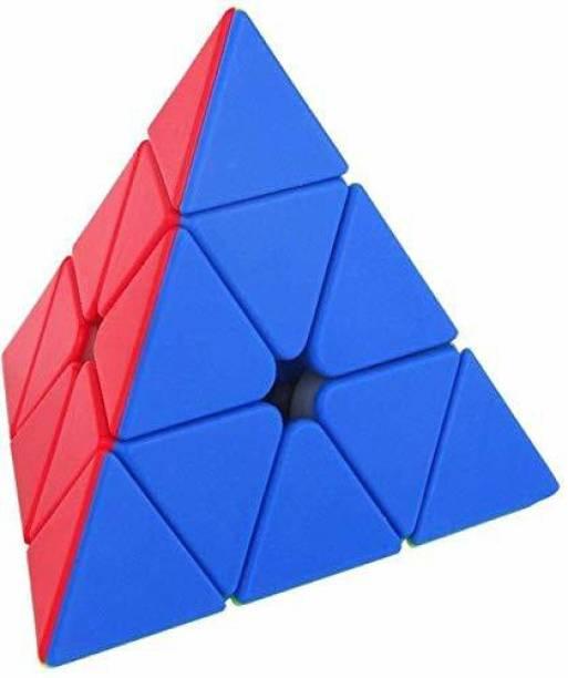 eppyz Pyramid Cube Super Speed Stickerless Triangle Pyramid Puzzle Cube