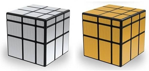 AGAMI Mirror Silver & Mirror Gold QIYI High Speed 3D Puzzle Cubes