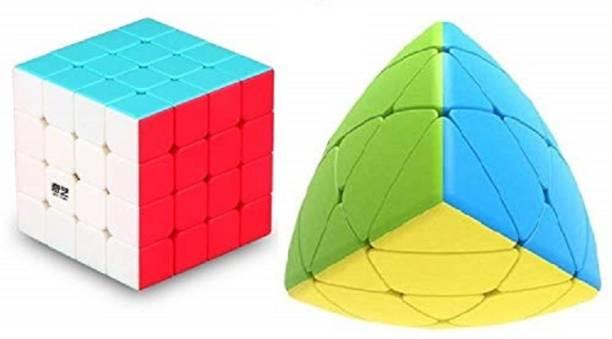 AGAMI Stickerless QIYI 4x4 Qiyuan S & MASTERMORPHIX High Speed 3D Puzzle Cubes