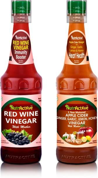 NutrActive Apple Cider Vinegar Ginger Garlic Lemon & Honey + Red Grapes Vinegar
