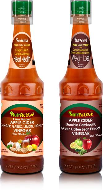 NutrActive Apple Cider Vinegar ginger, garlic,lemon&honey Vinegar