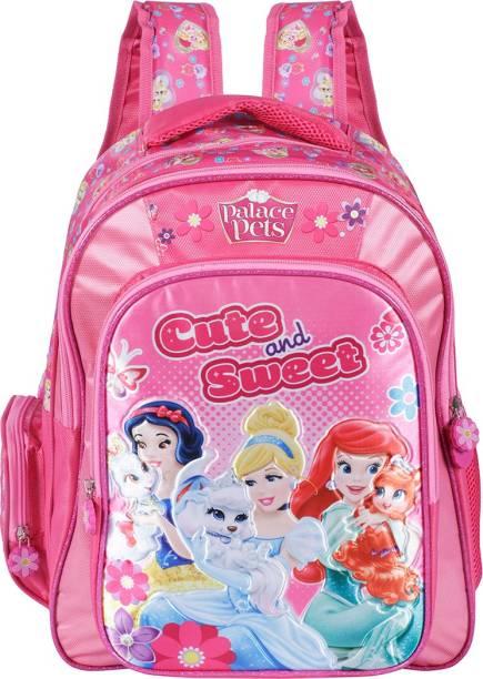 Disney Princess Princess Cute & Sweet Pink Soft Bag 36 cm (LKG/UKG/1st std) School Bag