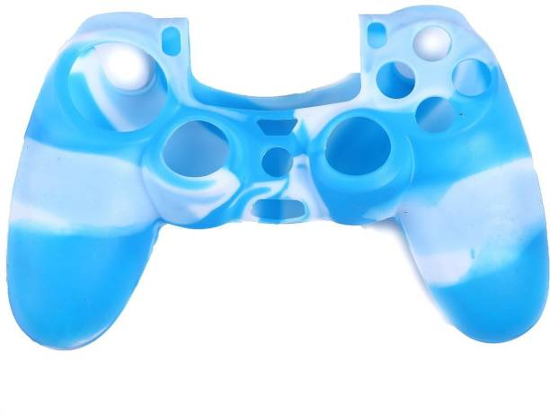 Tobo Sleeve for Blue & White, High Quality Protective Silicone Case Cover, PS4 Controller