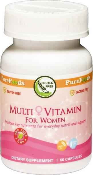 PureFoods Multi Vitamin for Women, 60 Capsules