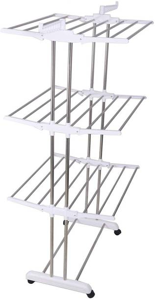LivingBasics Steel Floor Cloth Dryer Stand LBCD_004