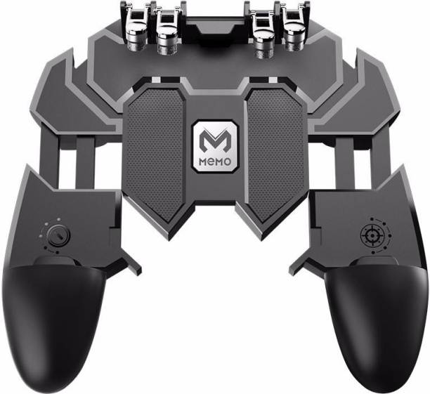 BUY SURETY Best Portable AK66 Powerful Fire Six Finger All-in-One Universal Compatibility Metal Quality Trigger Controller Joystick Mobile Game Controller Remote, Gaming Grip Remote Control Compatible with PUBG/Fortnite/Knives Out/Rules of Survival, Cell Phone Joystick Holder for iOS and Android  Gamepad