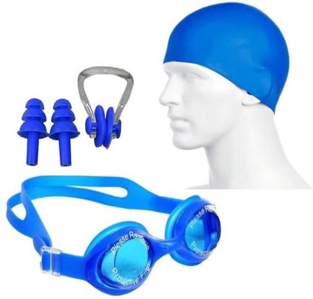 Neulife Swimming Set # Cap , Google , Ear Plug & Nose Clip Swimming Kit