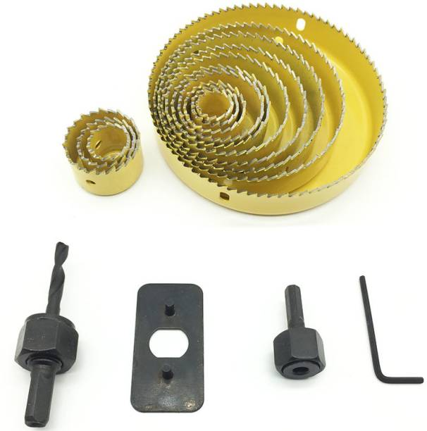 Digital Craft Hole Saw Cutting Set Kit Drilling Tool Wood Cutter 19-127mm Rotary Bit Set