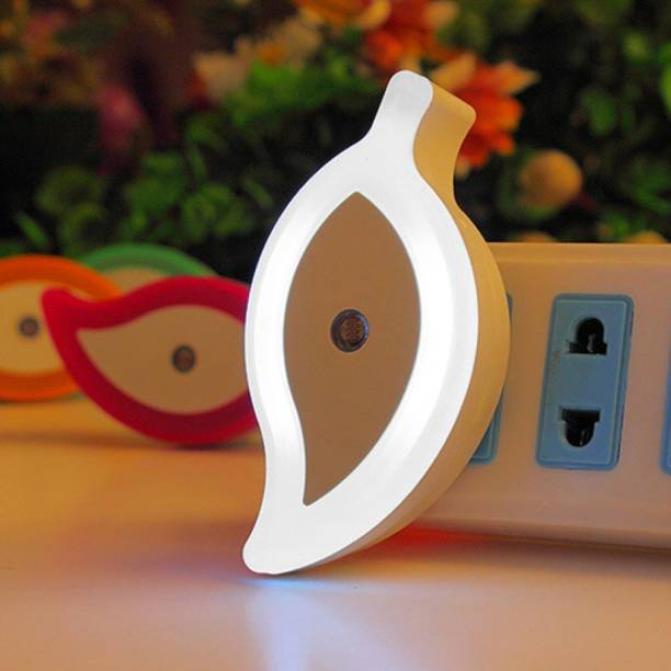 WORA Night Lamps Leaf Shape Nature Love Kids Room Light Sensor LED Night Lamp