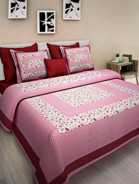 UNIQCHOICE 120 TC Cotton Double Printed Bedsheet
