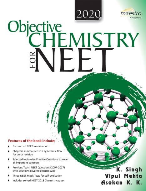 Wiley's Objective Chemistry for Neet, 2020 1 Edition
