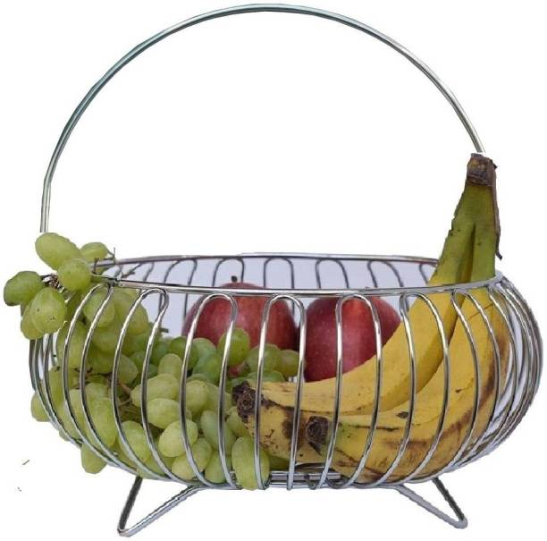 KEEPWELL Stainless Steel Fruit Basket 10 Inch / Vegetable Basket / Fruit Stand / Kitchen Stand / Vegetable Stand For Kitchen Stainless Steel Fruit & Vegetable Basket