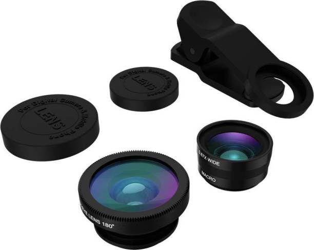 TECHGEAR 3-in-1 Clip-On Fisheye + Wide Angle + Macro Lens Set for All Smart Mobile Phone Lens
