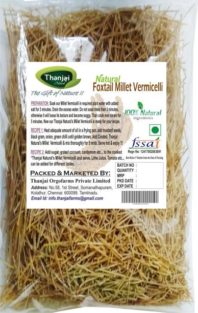 THANJAI NATURAL Foxtail Millet 1kg Pure Home Made 100% Natural Vermicelli 1000 g