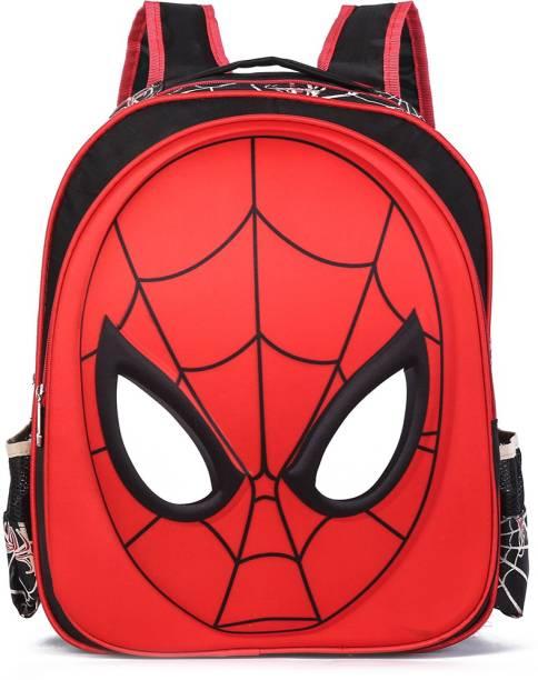 BLOSSOM SB066_02B School Bag Spider Man Style Backpack 3rd Standard onward Waterproof School Bag