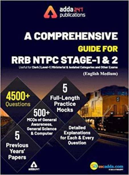 A Comprehensive Guide for RRB NTPC, Group D, ALP & Others Exams 2021 English Printed Edition (NTPC Special)