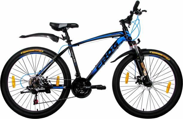 b74834c6b25 Frog Vortex Z501 Zoom Front Suspension Dual Disc Brake Bike For Adults  Black & Blue 26