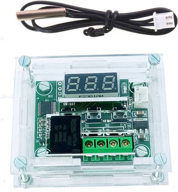 APTECHDEALS Temperature Controller Module with Case,1 piece W1209 Display Digital Thermostat Module with Waterproof NTC Probe Meter Electronic Hobby Kit