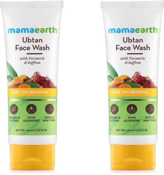 MamaEarth Ubtan Natural  with Turmeric & Saffron Face Wash
