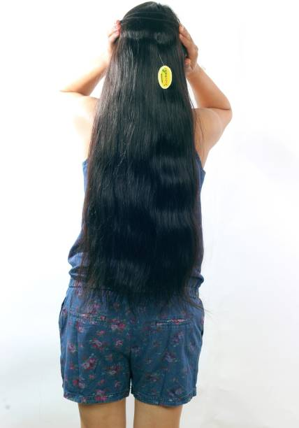 "Ritzkart 100% Remy Human  Extensions 20"" long & Natural Black Hair Extension"