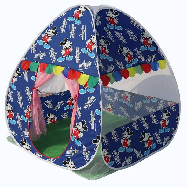 Homecute Foldable Popup Kids Play Tent House for 1 year to 12 years 110 x 110 x 120 cm Deep Blue
