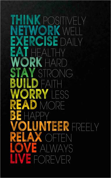 GYM Motivational Wall Poster for Room and Gym 12X18 Inch Paper Print