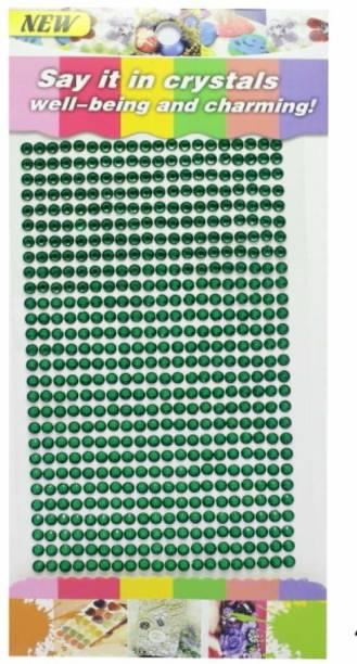 Aadya Crafts Crystal Diamond Sticker 4mm Green by Generic Theme,  Scrapbook Kit