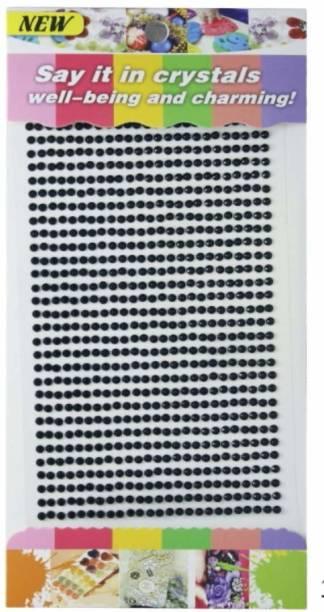 Aadya Crafts Crystal Diamond Sticker 3mm Black Theme,  Scrapbook Kit