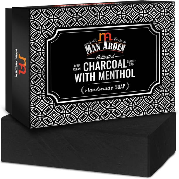 Man Arden Activated Charcoal With Menthol Handmade Luxury Soap (125 g)