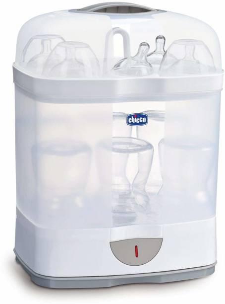 chicco Sterilizer Natural 2 in 1 | Adjustable Size | Sterilizes upto 6 bottles at once - 6 Slots