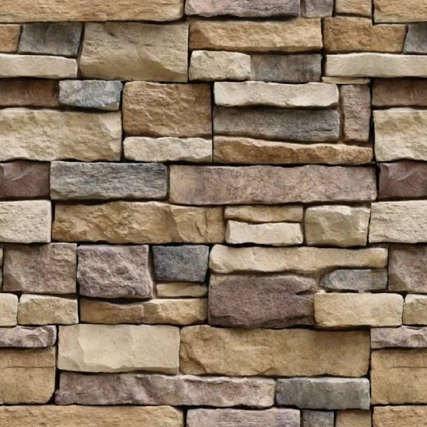 Univocean Modern Brick Stone Style Rustic Effect 3D Wall Poster, Wallpaper