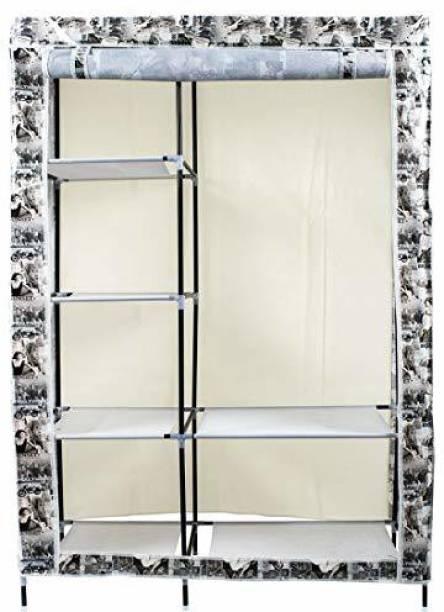 CONTINENTAL Foldable 6 Racks (88105-2) PVC (Polyvinyl Chloride) Collapsible Wardrobe