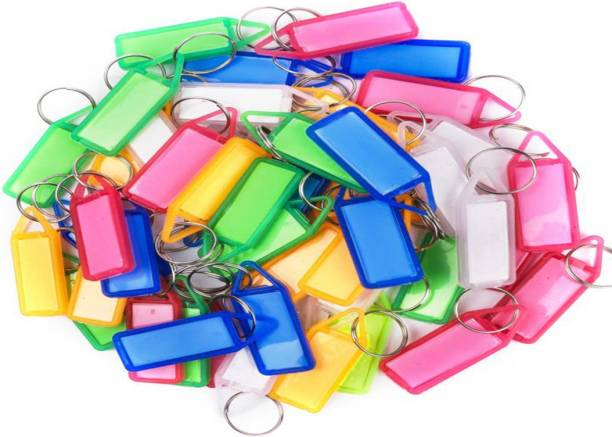 Flipkart SmartBuy Multipurpose 25 Pack Name Tags with Keyring Label Window Key Chain