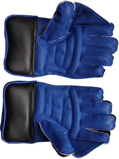 JetFire Wicket keeping gloves Wicket Keeping Gloves (L, Blue) Wicket Keeping Gloves