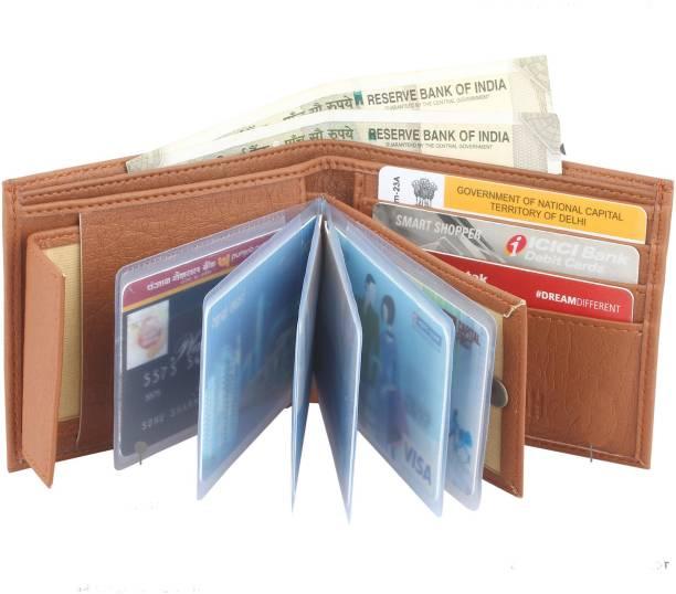 SAMTROH Men Casual Tan Artificial Leather Money Clip