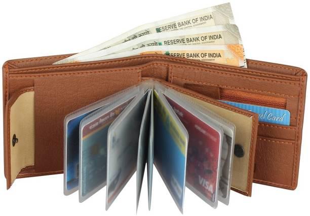 Wildedge Men Tan Artificial Leather Wallet